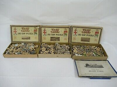 £19.99 • Buy Vintage 1940's Chad Valley Wooden Jigsaw Puzzles Lot Of 3 C844