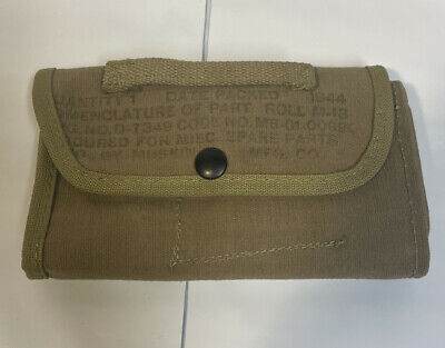 $10.49 • Buy WWII US Army M13 Spare Parts Roll 1944 Khaki Web Gear M-1 Carbine Case Pouch Vtg