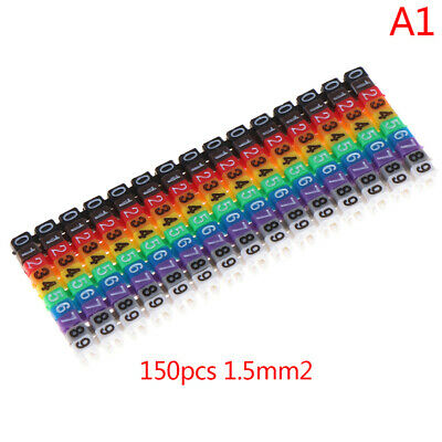 £2.28 • Buy Cable Markers Colourful C-Type Marker Number Tag Label For Wire 1.5mm² S!