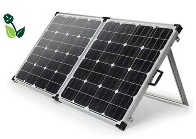 £139.95 • Buy 100W Folding Portable Mono Solar Panel Kit Suitcase For 12V Batteries Campers