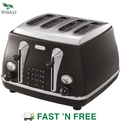 AU163.99 • Buy Delonghi CTO4003BK Icona Classic 4 Slice Toaster With Browning Control - Black