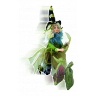 £21.50 • Buy Witches Of Pendle *jazz  Green Flying  Witch 32 Cms  Info Book Pagan/ Occult