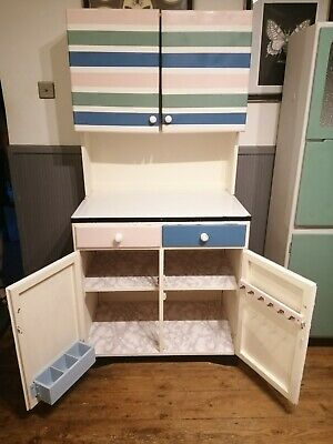 £140 • Buy Retro 1960s Kitchen Lader Unit Dresser With Metal Counter Top