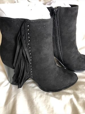 £9.50 • Buy Black Ankle Boots Size 6 Red Herring Brand New