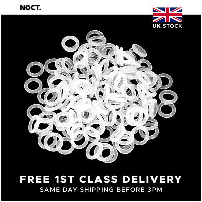 £3.79 • Buy Mechanical Keyboard Noise Dampening O-Rings For Cherry MX Style Keycaps - Clear