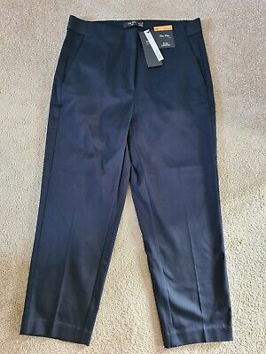 £17 • Buy The Mia Slim Cropped Navy Trousers From M & S, Size 10, Brand New.