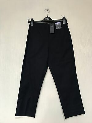 £12.95 • Buy New M&S Collection Ladies  Slim Cropped (navy) Trousers Size 8 L22