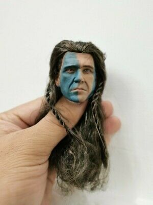 £27.27 • Buy  1/6 Brave-heart William Wallace Mel Gibson Rooted Hair Head Carving For 12''