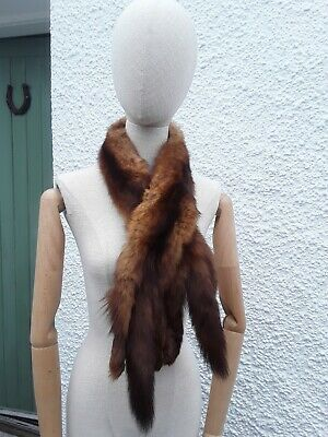 £30 • Buy Vintage 1930s/40s Fox Mink? Fur Stole/Shawl With Clasp