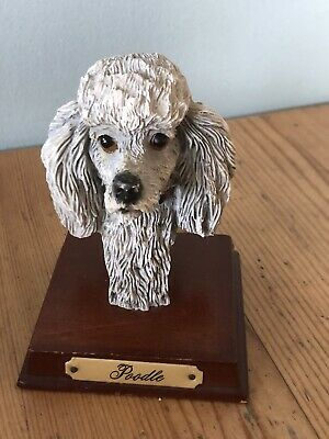 £15 • Buy Lovely Vintage Poodle (colour Silver)Head Ornament/collectable Dog Bust