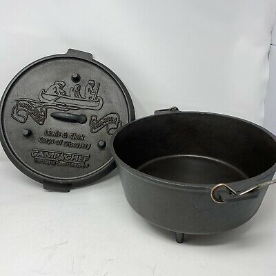 $ CDN170.02 • Buy Cast Iron Camp Dutch Oven Grill Lewis & Clark Corps Of Discovery 5 Qt Camp Chef