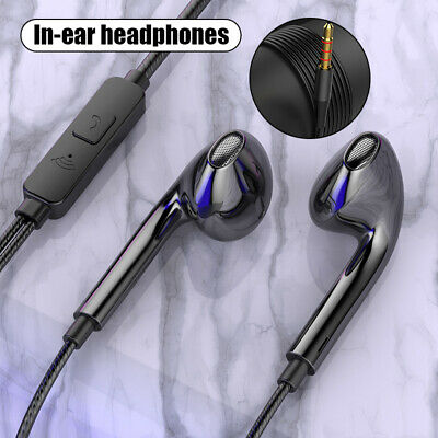 AU7.92 • Buy Wired Sport Earbuds Earphones Headset Headphones Mic For IPhone IPad Android PC
