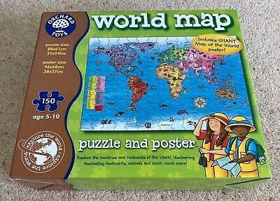 £4.99 • Buy Orchard Toys World Map Jigsaw 150 Pieces Age 5-10 ~ Complete & Vgc