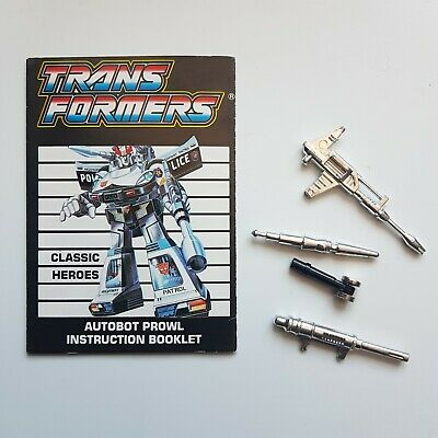 £20 • Buy Transformer Prowl Classic Heroes Instructions Weapons Accessories G1 Parts Rare