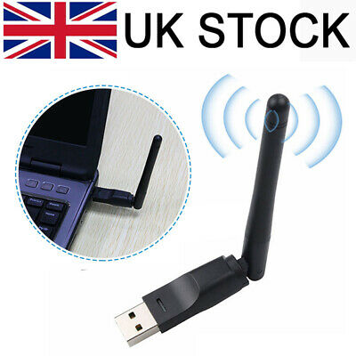 £4.09 • Buy High Speed USB Wifi Adapter Wireless Antenna Dongle For Smart TV Box Openbox PC