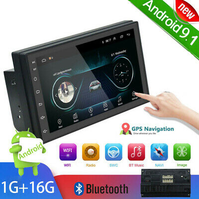 £69.99 • Buy Android 9.0 7  Double 2Din Car Stereo Radio Touch Screen Bluetooth FM MP5 Player