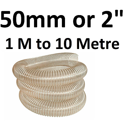 £10.50 • Buy 50mm PU Flexible Ducting Hose  Ventilation Fume & Dust Extraction Woodworking 2