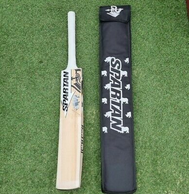 £224.95 • Buy English Willow Cricket Bat With Spartan Stickers, RB Sponsor Stickers + Cover