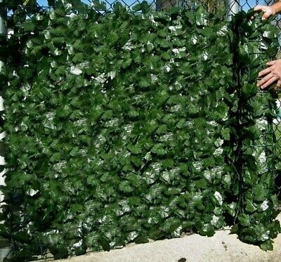 £20.99 • Buy Artificial Screening Ivy Leaf Hedge Panels On Roll Privacy Garden Fence 1m X 3m