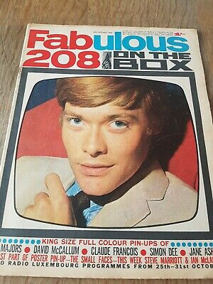 £3.20 • Buy Fabulous 208 Magazine October 29th 1966.  Very Good Condition