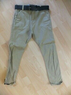 £5.99 • Buy Boys Stone Coloured Trousers With Belt.  Age 11 Years.  From Next.