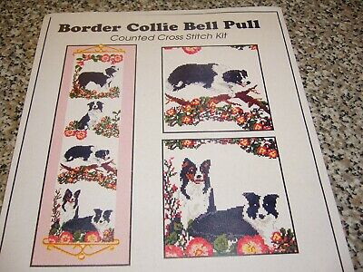 £5 • Buy Border Collie Bell Pull - Counted Cross Stitch Kit