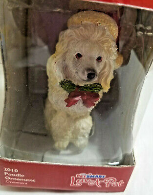 £9.56 • Buy 2010 Poodle Dog Puppy 3  Tall White Christmas Ornament Figurine Luv-A-Pet