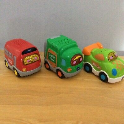 £10.99 • Buy Vtech Toot Toot Bus, Racer, Dustbin Lorry Vehicles, Preowned