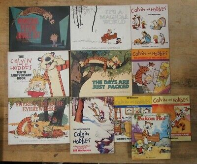 £20.99 • Buy 11 CALVIN AND HOBBES BOOKS By BILL WATTERSON  ** FREE UK POST ** PAPERBACK