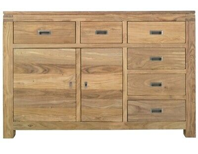 £250 • Buy John Lewis Sheesham Wood Large Two Door Sideboard With Six Right Hand Drawers.