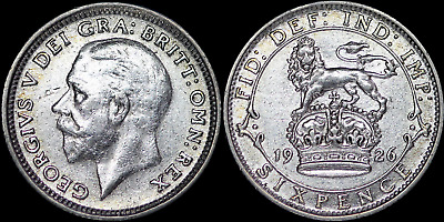 £12 • Buy 1926 2nd Issue George V Silver Sixpence - Nice Collectable Grade