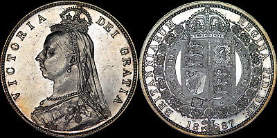 £79 • Buy 1887 Victoria Jubilee Half-Crown - Exquisite Choice Coin With Proof-like Fields
