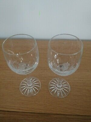 £7 • Buy Two Crystal Thistle Wine Glasses
