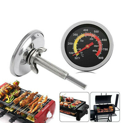 £6.39 • Buy 50-400℃ Barbecue BBQ Smoker Grill Thermometer Temperature Gauge Stainless Steel