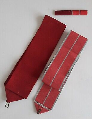 £40 • Buy A Genuine Military Mbe & Old Style Obe Medal Ribbon Bar With 2 Sash Ribbons