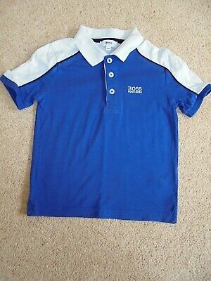 £3.99 • Buy  Hugo Boss  Royal Blue S/S Polo Shirt , Age 4 Yrs/ 197 Cms In Ex. Cond