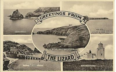 £1.49 • Buy Cornwall  Postcard - Greetings From THE LIZARD - Lighthouse.