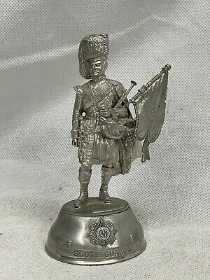 £11 • Buy Chas Stadden Signed Pewter Figure Scots Guards Piper