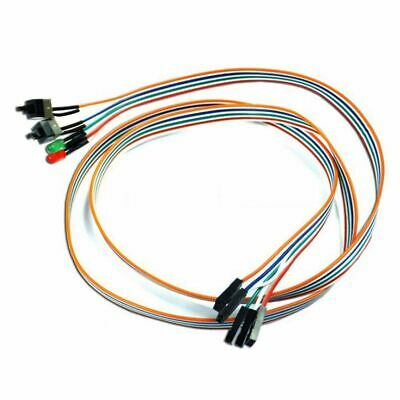 £2.54 • Buy Computer Motherboard Power ATX On Off Reset Switch Buttons LED Cable Replaceplac