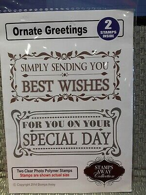 £2.99 • Buy Stamps Away 2 Stamps Best Wishes & Special Day Ornate Greetings