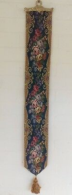 £59 • Buy TAPESTRY BELL PULL FLORAL BLUE  Measures 45X6 Inch (114X15cm) Inc Tassel