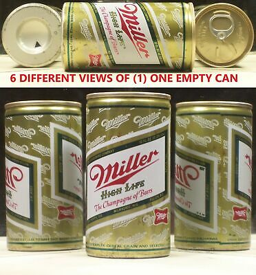 $3.95 • Buy Miller High Life Beer Drawn Steel Test 12 Oz Can 5 Cities Listed 48J