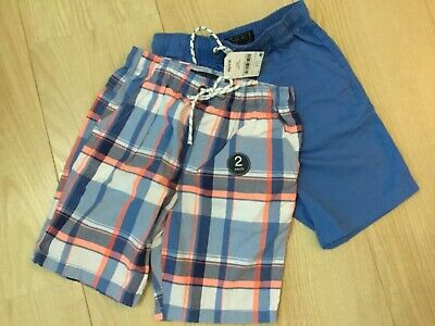 £9 • Buy Boys New With Tag Next Shorts 2 Pack Age 11 Years Blue Check And Plain Blue