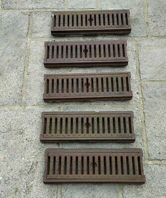 £160 • Buy Vintage Reclaimed POLY Cast Iron Drainage Channels With Gratings X 5. 49.5cm