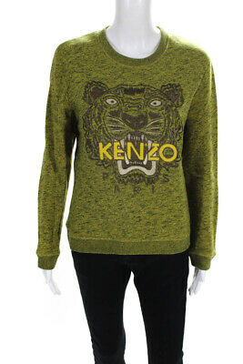 AU66.80 • Buy Kenzo Womens Embroidered Pullover Sweater Green Size Large