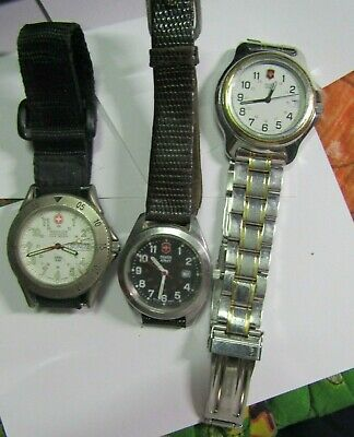 $ CDN12.15 • Buy Watch Lot Of 3 Men's Swiss Army /Military Watches For Parts/repair #99