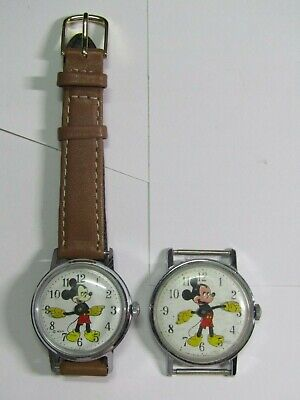 $ CDN12.15 • Buy Watch Lot Of 2 Men's Mickey Mouse Disney Watches For Parts/repair #99