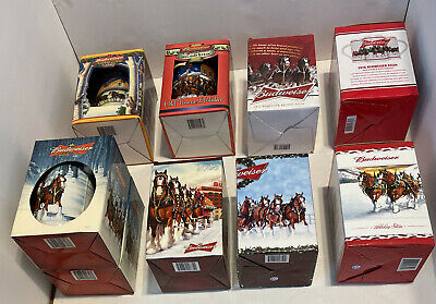 $ CDN96.21 • Buy Lot Of 9 New In Box Budweiser Holiday Beer Steins Mugs 00,03,2x07,08,09,10,13,16