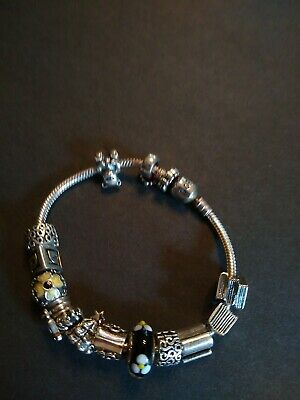 AU129.74 • Buy Pandora 925 Silver Bracelet With14 Charms Us Buyers Only. 8 Inch Long.