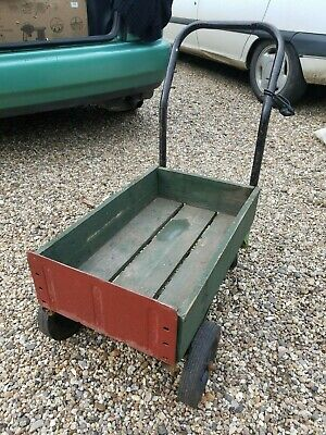 £36 • Buy Kids, Child's Cart, Push Along Wooden Trolley - Great Old Fashioned Fun